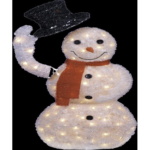 Animated Long Lighted Snowman Christmas Decoration