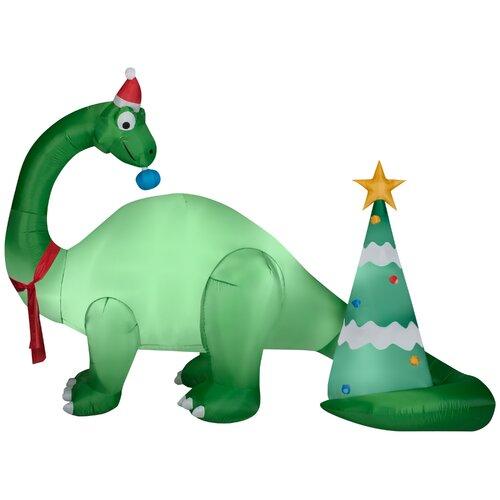 Brontosaurus and Christmas Tree Scene Decoration