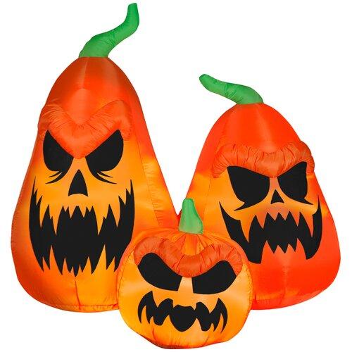 Scary Jack-O-Lantern Trio Halloween Decoration