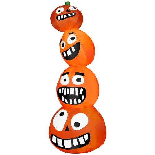 Funny Pumpkin Stack Halloween Decoration