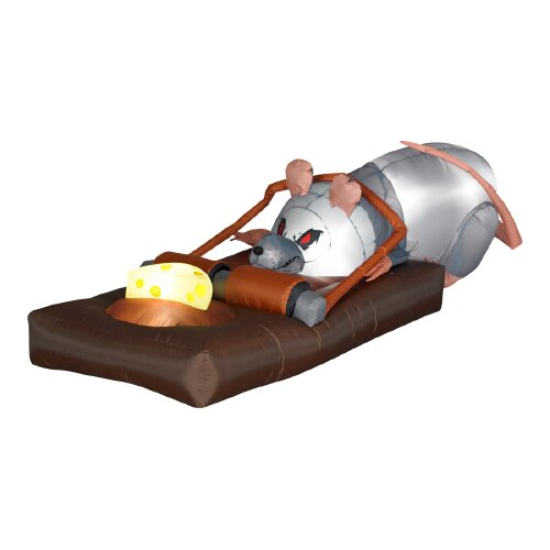 Gemmy Industries Airblown Animated Rat in the Trap Halloween Decoration