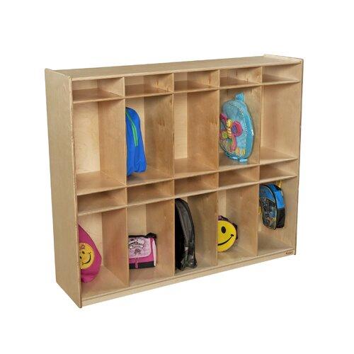 Wood Designs Ten Section Locker