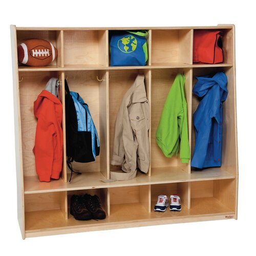 Wood Designs Tip-Me-Not Five Section Seat Locker