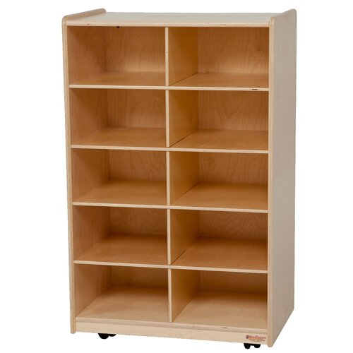 Wood Designs Folding Vertical Storage Unit 10 Compartment Cubby
