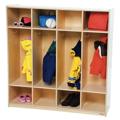 Wood Designs Four Section Locker