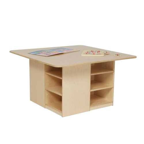 Wood Designs Cubbie Table with Twelve Trays