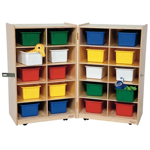 Wood Designs Folding Vertical Storage Unit 20 Compartment Cubby