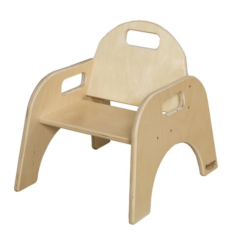 """Wood Designs Woodie 7"""" Plywood Classroom Stackable Tot Chair"""