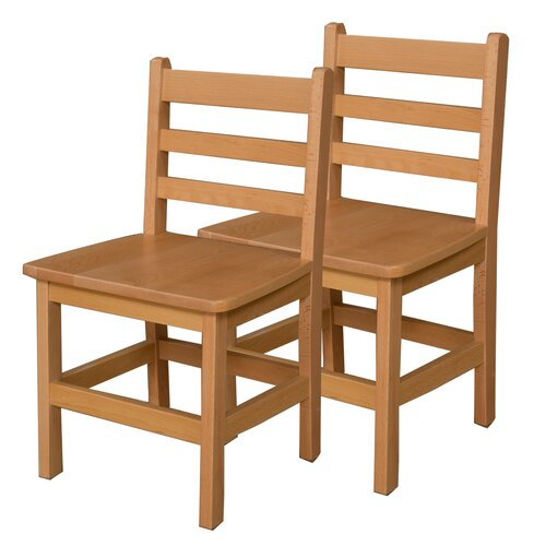 """Wood Designs 15"""" Wood Classroom Glides Chair"""