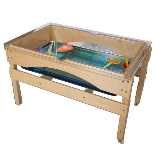 Wood Designs The Absolute Best Sand and Water Sensory Center Table without Lid