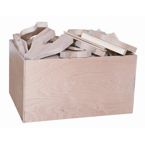 Wood Designs Four Side Block Bin