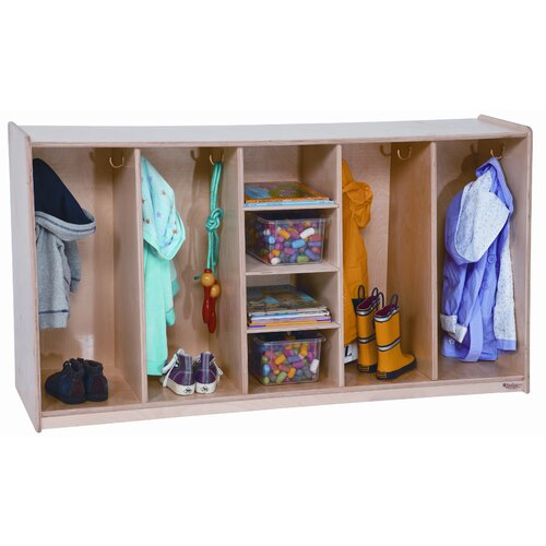 Wood Designs Tip-Me-Not Four Section Locker