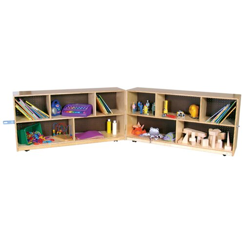 "Wood Designs 24"" Extra Deep Folding Storage Unit"