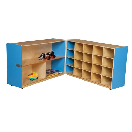 Wood Designs Half and Half Storage Unit without Trays