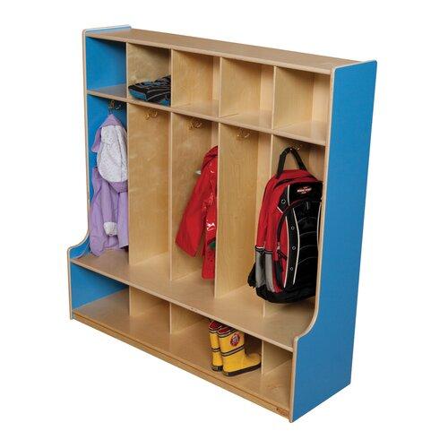Wood Designs 5-Section Seat Locker