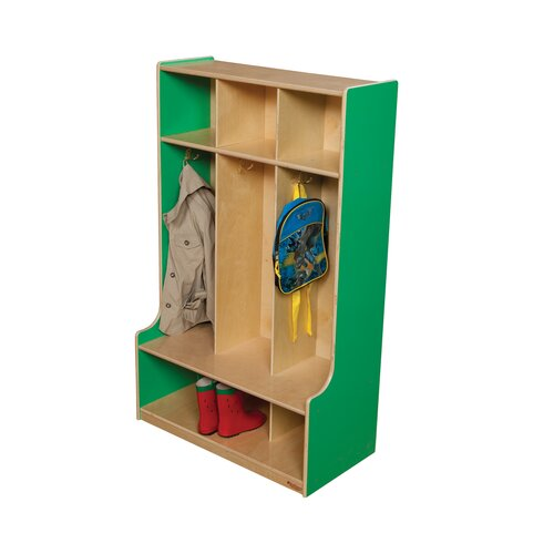 Wood Designs 3-Section Seat Locker