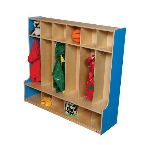 Wood Designs 6-Section Seat Locker