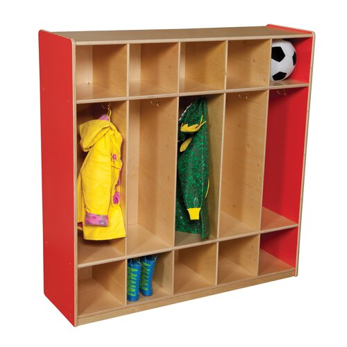 Wood Designs 5-Section Locker