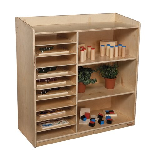 Wood Designs Natural Environment Sensorial Discovery Shelving Unit