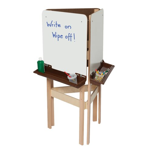 Wood Designs Natural Environment 3-Way Easel with Brown Tray