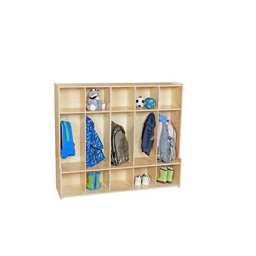 Wood Designs Contender 5-Section Seat Locker