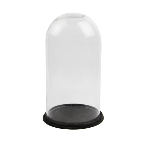 White x White Glass Dome Round on Base