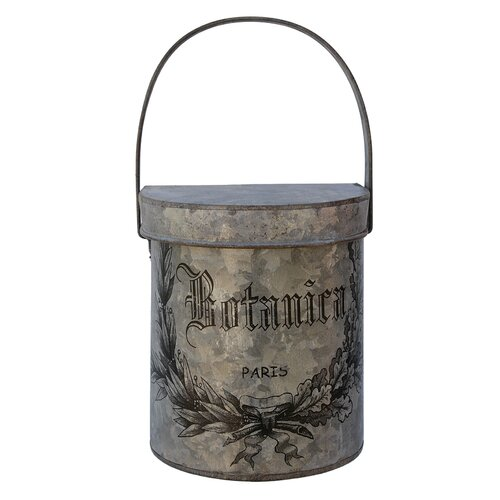 White x White Botanica Wall Bucket with Lid
