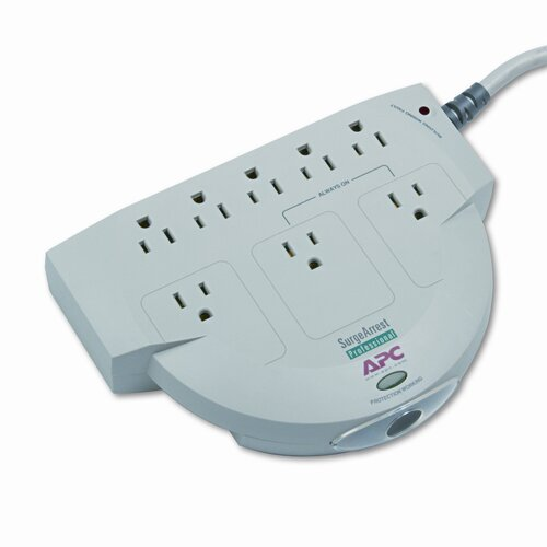 APC® SurgeStation Power Surge Protector, 8 Outlets, 6ft Cord