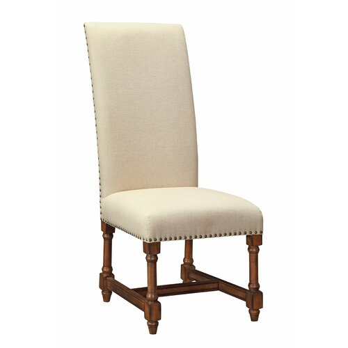 High back upholstered dining chair wayfair for High back parsons chair