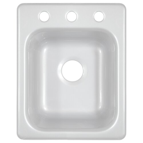 "Lyons Industries Deluxe 16"" x 20"" Kitchen Sink"