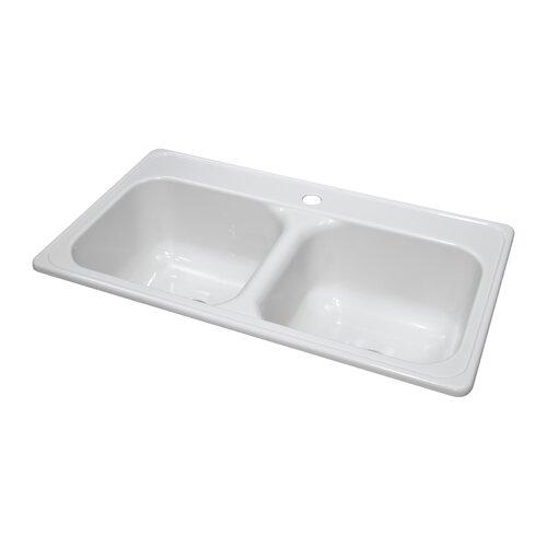 "Lyons Industries Deluxe 33"" x 19"" x 9"" Kitchen Sink"