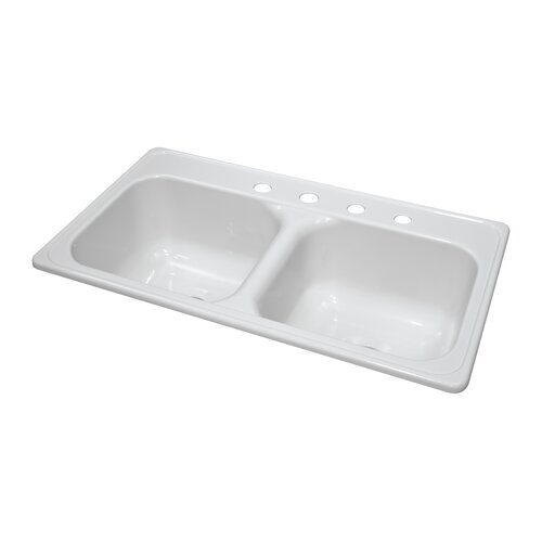 "Lyons Industries Deluxe 33"" x 19"" x 9"" Kitchen Sink"