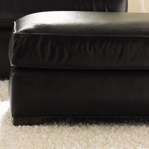 11 South Fillmore Leather Ottoman