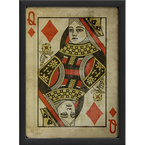 Queen of Diamonds Framed Graphic Art