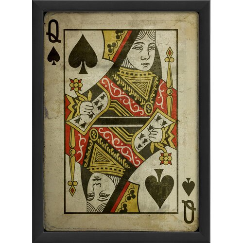 Queen of Spades Framed Graphic Art