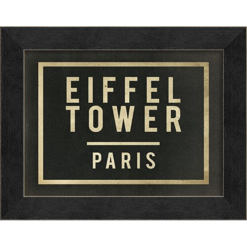 Eiffel Tower Paris Framed Textual Art