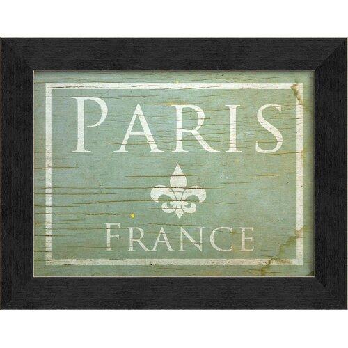 Paris Framed Textual Art