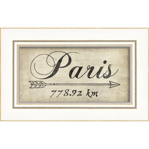 Paris 778Km Framed Textual Art