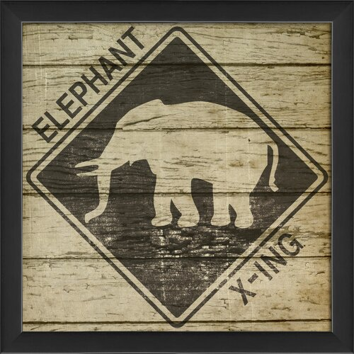 Blueprint Artwork Elephant Xing Framed Graphic Art