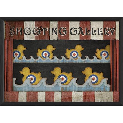 Blueprint Artwork Shooting Gallery Framed Graphic Art