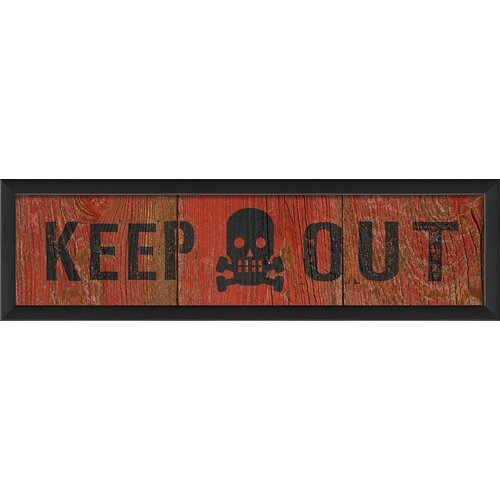 Blueprint Artwork Keep Out Framed Textual Art