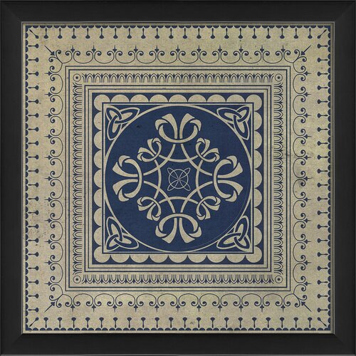 Blueprint Artwork Tile 7 Framed Graphic Art