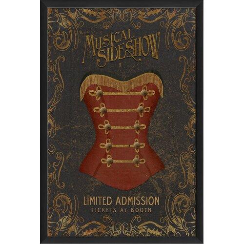 Musical Sideshow Framed Vintage Advertisement