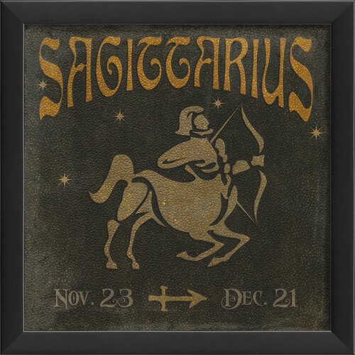 Blueprint Artwork Zodiac Sagittarius Framed Graphic Art