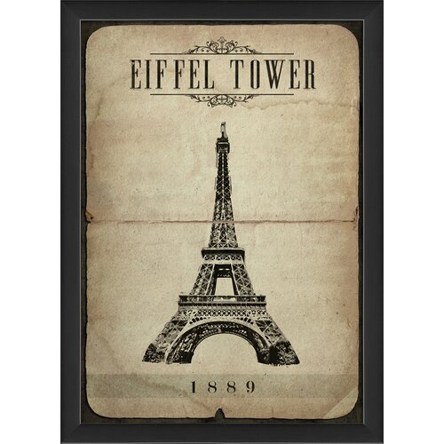 Eiffel Tower Framed Graphic Art