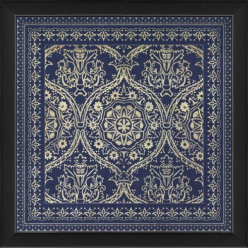 Blueprint Artwork Tile 1 Framed Graphic Art