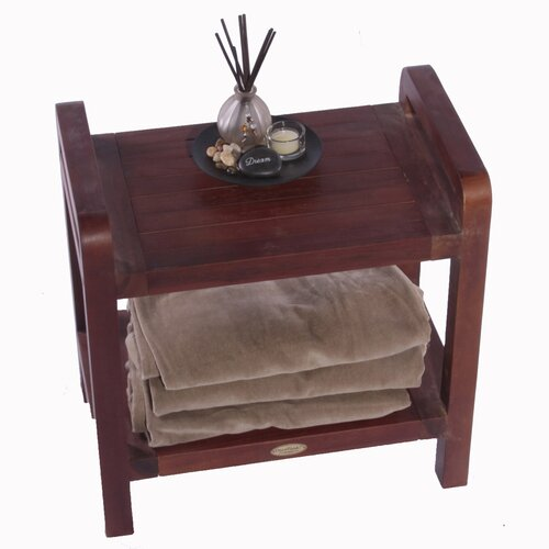 Decoteak Lift Aide Ergonomic Teak Spa Stool