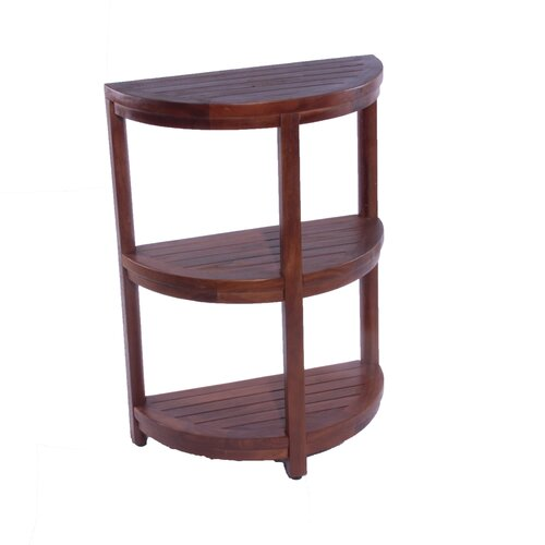 3 tier classic spa half moon teak shower and bathroom. Black Bedroom Furniture Sets. Home Design Ideas