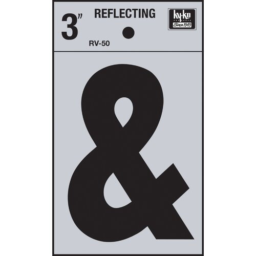 Hy-Ko Self Stick Reflective Ampersand Symbol