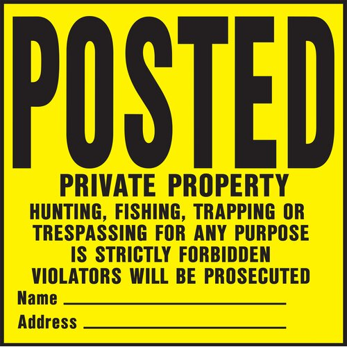 Hy-Ko Private Property Sign